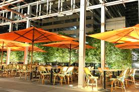 outdoor patio dining hospitality design of table 31 restaurant