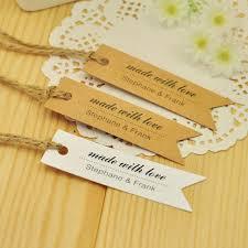 wedding favor tags custom gift tags pennant custom tags made with