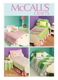 sewing pattern for 18 inch dolls bedroom furniture and bed linens