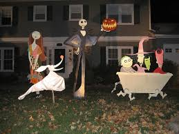 the nightmare before decorations lawn