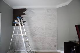 How To Paint A Faux Brick Wall - wishy washy brick wall faux brick panels brick paneling and