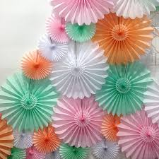 tissue paper fan by blossom notonthehighstreet