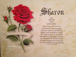 Rose Home Decor by Sharon First Name Meaning Art Print Name Meaning Art