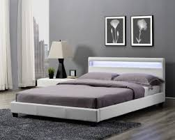 bedrooms king size bed canis white led kingsize faux leather