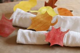 leaf art napkin rings thanksgiving crafts for kids pbs parents
