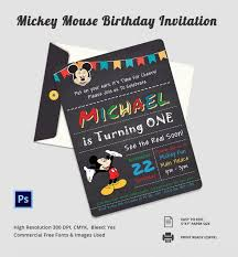 template mickey mouse invitations for first birthday in