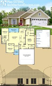 covered porch house plans architectural designs 3 bed house plan 51731hz has a dynamic