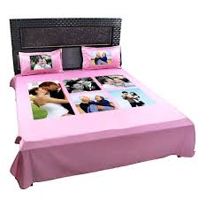 double bed personalized photo collage double bedsheet giftsmate