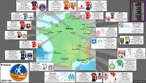 2007 World Map by France Ligue 1 2007 08 Season Zoom Map Billsportsmaps Com