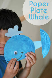 paper plate whale craft picmia