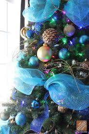 tree decorating ideas turquoise blue bronze colour