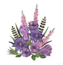 flourishing flowers embroidery design