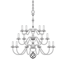 ball basket 20 arm chandelier u2013 hubbardton forge