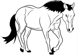 horse coloring free printable coloring pages