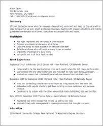 Resume Template Bartender Download Sample Bartender Resume Haadyaooverbayresort Com