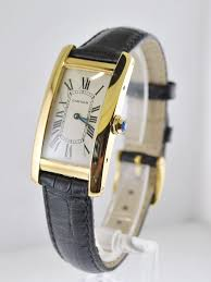 Deco Vintage Americaine Vintage Cartier Tank Americaine Original 1720 Wristwatch 18k