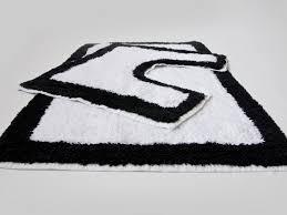 Pretty Bathroom Rugs Creative Black And White Striped Bath Rug Pretty Set Home Design