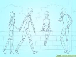 3 basic ways to draw people step by step wikihow