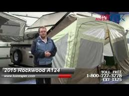 A Frame Awning Review Of 2015 Rockwood A124 A Frame Hard Side Fold Down Rv Youtube