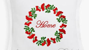 machine embroidery design forest wreath by royal present embroidery