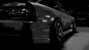black nissan sports car monochrome black car nissan 180sx need for speed wallpapers hd
