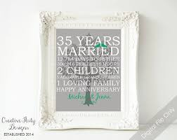35th wedding anniversary gift 13 best anniversary party images on gift for parents