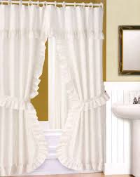 White Shower Curtains Fabric Bathroom White Ruffle Shower Curtain Shower Curtain Ruffled