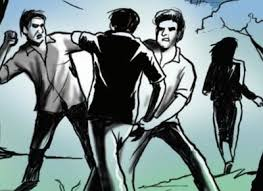 armed men thrash residents fire in air times of india