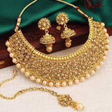 necklace set images Buy necklace sets online temple jewellery gold plated neckace jpg