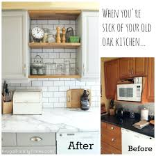kitchen cabinets and countertops cheap with glass inserts update