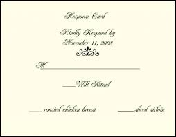 wedding response cards sle rsvp with dinner choices wedding invites for