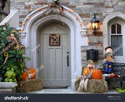 front door halloween decorations stock photo 101940238 shutterstock