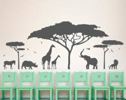 Safari Nursery Wall Decals Custom Vinyl Wall Decals By Wallumswalldecals On Etsy