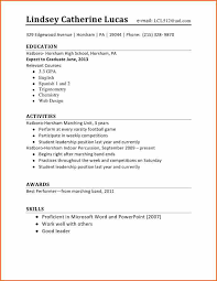 Resume Template For Students First Job by 10 Cv Template Student First Job Budget Template Letter