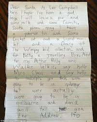 david campbell shares son leo u0027s adorable letter to santa daily