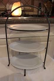 3 tier serving stand 3 tier serving rack crate barrel white oval plates serving stand
