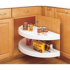 Corner Cabinet In Kitchen Furniture Maple Chiffon Corner Cabinet Lazy Susan For Appealing