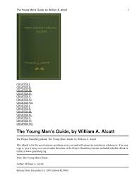 the young man u0027s guide william a alcott project gutenberg marriage