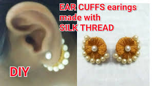 how to make ear cuffs diy ideas how to make ear cuffs earings how to make silk