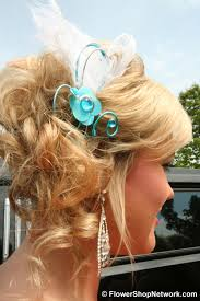 hair corsage prom inspiration funky style