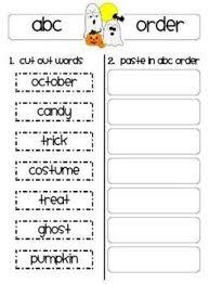 alphabetical order halloween worksheets u2013 happy holidays