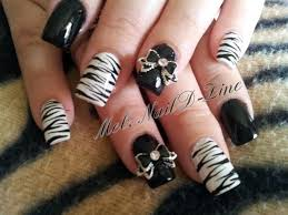 zebra art with 3d bows nail art gallery