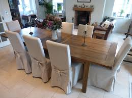 barker and stonehouse oak dining table and 8 chairs oak dining