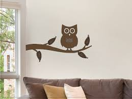 Owl Wall Decor by Owl On A Tree Branch Wall Sticker Decal Wall Decor For