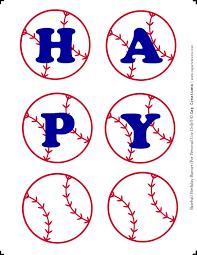 diy happy birthday baseball banner printable cap creations