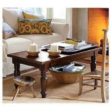 turned leg coffee table hyde turned leg coffee table by pottery barn olioboard