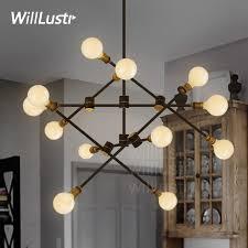 willlustr iron arm turnable pendant lamp metal kinetic 2 tier