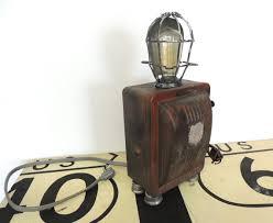 steampunk robot lamp robot sculpture junkyard light by nayastudio