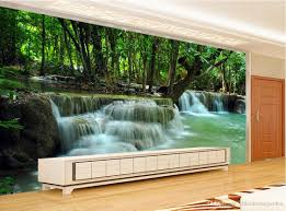 Bedroom Water Feature New Custom 3d Beautiful Green Nature Landscape Painting Water