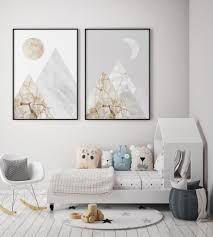 homeinterior marble wall artwork set with abstract mountain